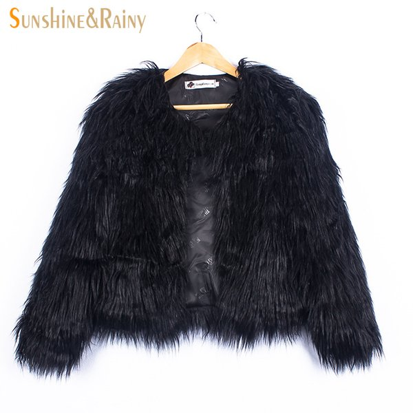 Ins Stylish Fur Jackets For Girls Autumn Kids Jackets And Coats Waterfall Baby Girl Faux Fur Coat Children Outerwear 2-10Y Y1892112