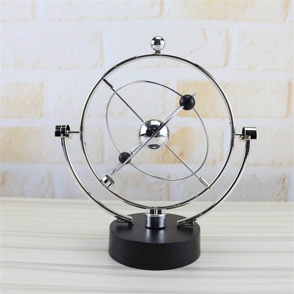 Rotate Perpetual Motion Instrument Model Novelty Kinetic Orbital Metal Arts And Crafts Creative Swing Globe Pink Blue 13hz Ww