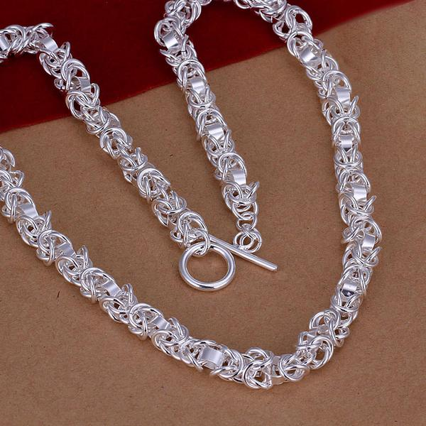 Men's 925 sterling silver jewelry 7mm 18'' necklace n060 fit for bracelets chains gift free shipping