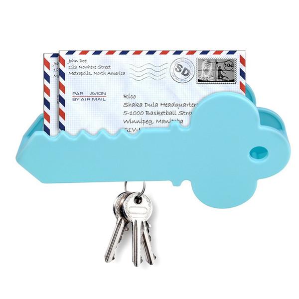Portachiavi a forma di chiave magnetica a parete Portachiavi magnetico Mail Organizer Box Busta Biglietti di auguri di Natale Scatola di immagazzinaggio Home Decor