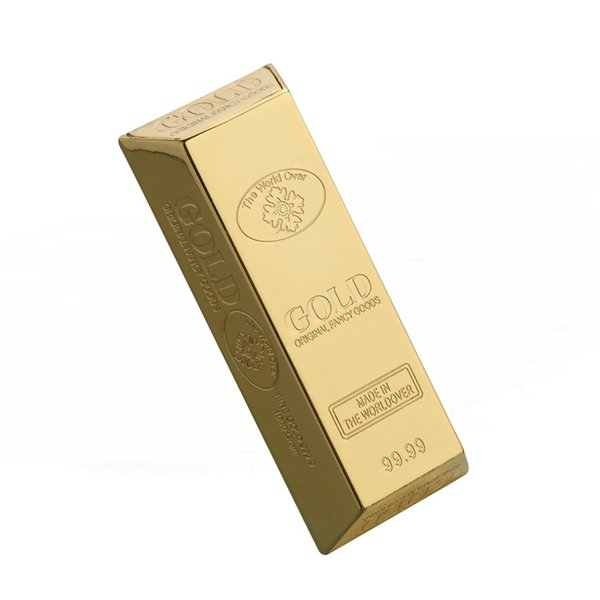 Mini gold bar shaped ash tray Personalized portable outdoor ashtray Zinc alloy environmentally sound and reusable ashtray