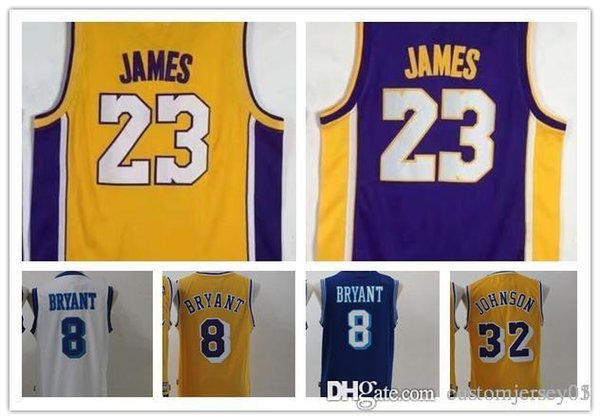 separation shoes bf15e 25a11 2018 New Los Angeles Lakers 2018 Men'S #23 James 23 8 Kobe Bryant #32  Bryant Ball Basketball Jersey From Customjersey07, $15.05 | Dhgate.Com