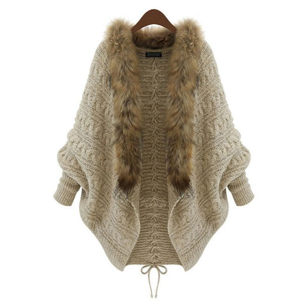 2018 Autumn Winter Women Long Sleeve Knitted Cardigan Sweater Casual Loose Vintage Oversized Knitting Female Cardigans Plus Size