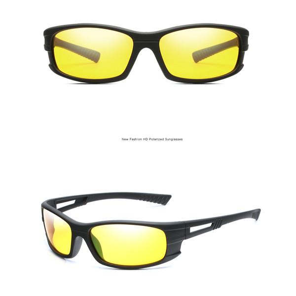 Visão noturna óculos de sol das mulheres dos homens lente amarela car  driver s óculos de sol óculos de proteção uv óculos de proteção unisex de  vidro gafas ... e1099dece9