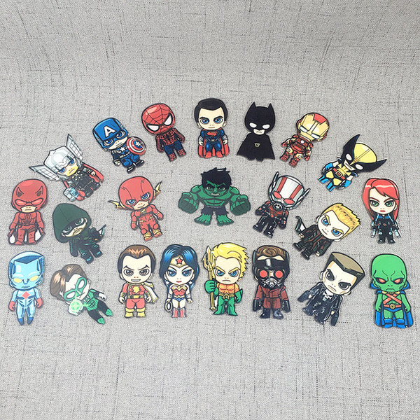 wholesale new cute Creative Hero cartoon Figure Fridges Magnetic Sticker acrylic Portable Household Fridge Magnets sticker
