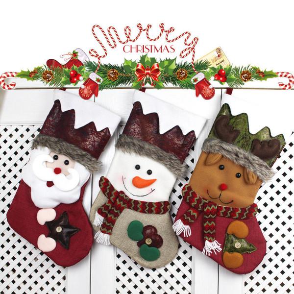 Calze Regalo natalizio Dolci Borsa Calzino Ornamenti Bomboni Gif Scatola Famiglia Display Negozio Mercato Drop Scena Decorazione Camera