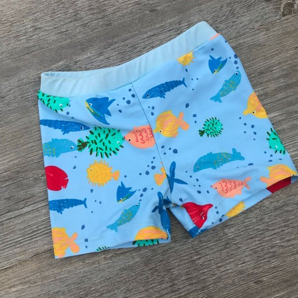 Fish Print Boys Swimwear Beach Shorts Kids swimming trunks 2018 children swimsuits Boys Swimwear Swim Print Bathing Clothes Suit