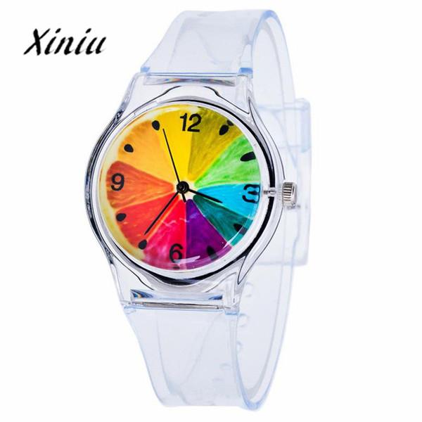 Xiniu Watch Transparent Clock Silicone Watches Women Sport Quartz Wristwatches Novelty Crystal Ladies Watch Cartoon reloj mujer