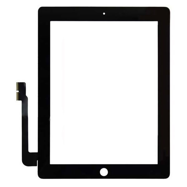 100PCS DHL Free For iPad 2 3 4 A1395 A1396/7 A1416 A1430 A1403 A1458 A1459 A1460 Digitizer Touch Screen Outer Panel+Sticker+Camera Bracket