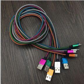 Kaliteli Kumaş Naylon Örgülü Mikro USB Kablosu Data Sync USB Şarj Kablosu iphone 5 6 7 için Android USB Kablosu