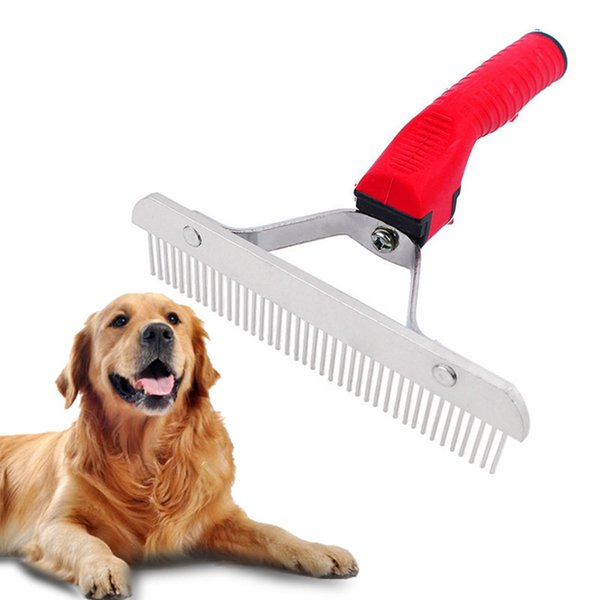 New Pet Dogs Brush Dematting Grooming Deshedding Tool Trimmer Comb Rake Pets Puppy BrushSuper Large dog Cleaning Brush Combs Rake B