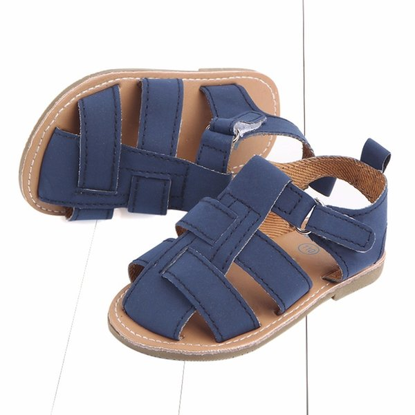 scrub leather male sandals baby sandals toddler shoes