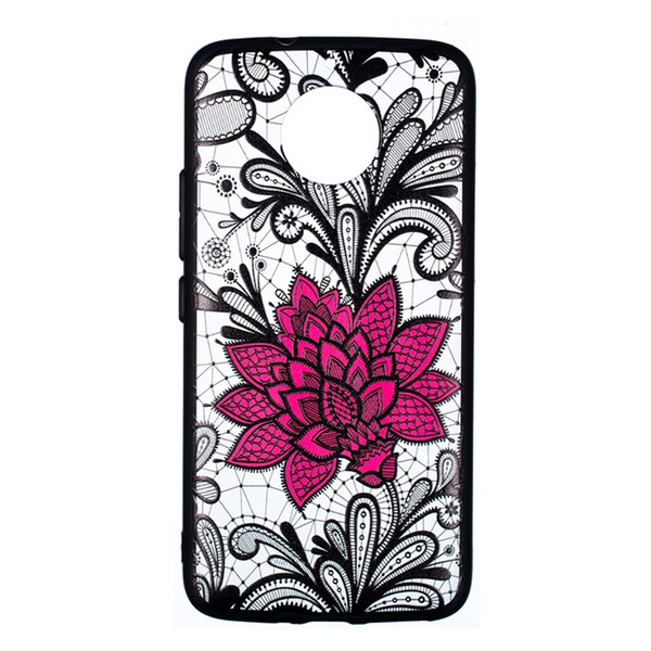 Fashion Lotus Flower TPU PC Hard Case For MOTO G5 G5S Plus C G6 X4 E4 Play G4 Floral Mandala Lace Paisley Henna Cell Phone Skin Cover 20pcs