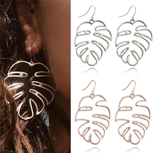 Hollow Coconut leaf Earrings For Women Indian Jewelry Boho Vintage Statement Earring Girl Large Earrings