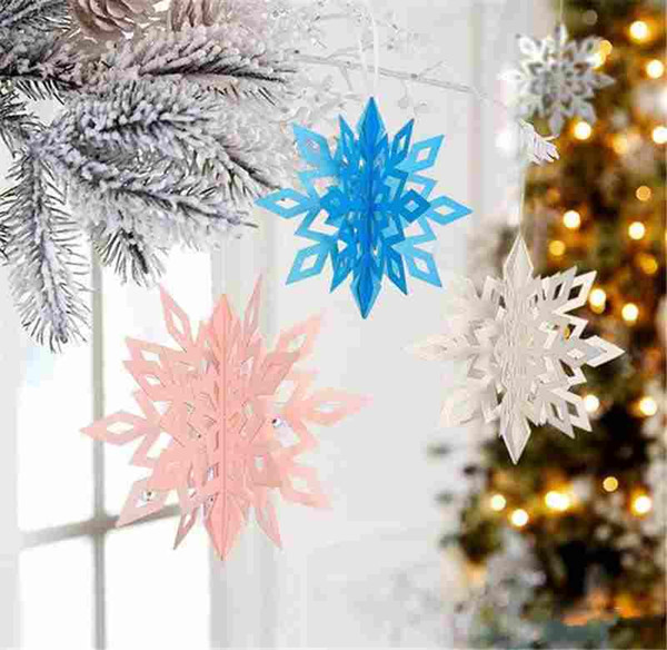 Snowflakes Christmas 3d Fake Snow Ornaments Christmas Tree Pendant Party Christmas Decoration For Home Christmas Decorations Accessories Christmas