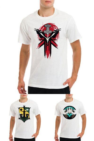 Onur viking knight için samuray oyunu logo amblem sembol, oyuncular beyaz tişört Komik ücretsiz kargo Unisex Rahat Tshirt