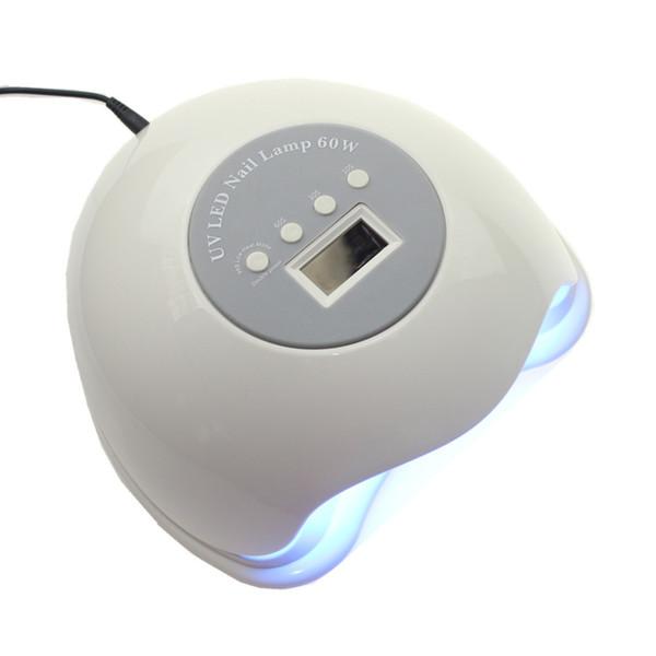 2018 Nuevo 60W Sun5 plus Gel Nail Dryer LED Lámpara Cabine UV Nail Gel Secador de esmalte de uñas eléctrico con pantalla LCD temporizador Sensor Y18100907
