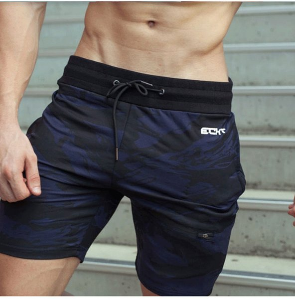 Erkekler Gym Fitness Pamuk Şort Koşu Spor Vücut Geliştirme Sweatpants Erkek Koşu Egzersiz Eğitimi Kısa Pantolon