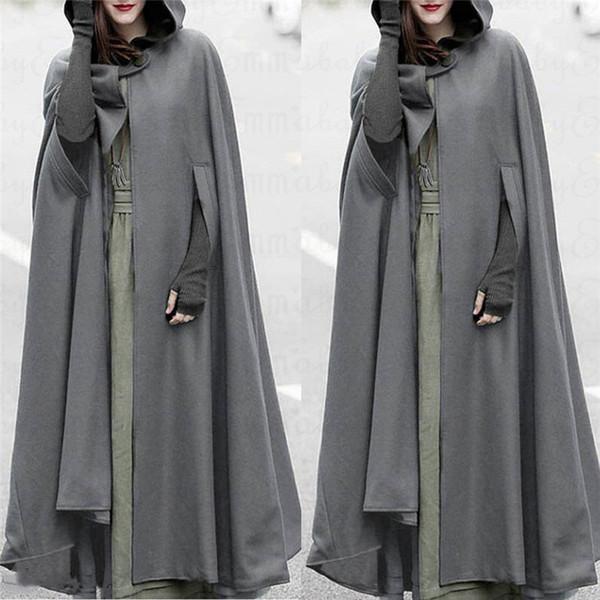 Mantel coat Cape Offener ÄrmelnCoatFashionDuster mit UMSzpqV