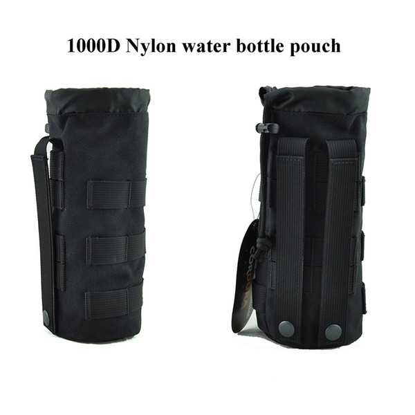 Tactical Drawstring Water Bottle Pouch Molle water kettle Carrier for 32oz 9.4