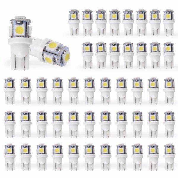 top popular 50pcs Led Car DC 12v Lampada Light T10 5050 Super White 194 168 w5w T10 Led Parking Bulb Auto Wedge Clearance Lamp 2019