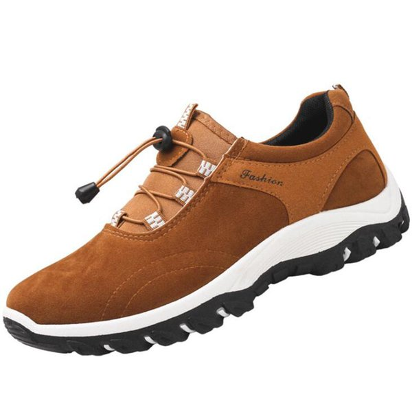 Outdoor Sports Camping Shoes For Men Tactical Slip-on Hiking Shoes For Spring Autumn Leisure Breathable Shoes