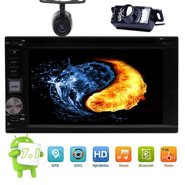 OCTA core Android 7.1 Stereo 2 DIN 6.2 '' Touchscreen Capacitivo auto DVD CD Video Car Player HeadUnit Radio Tuner WiFi Bluetooth