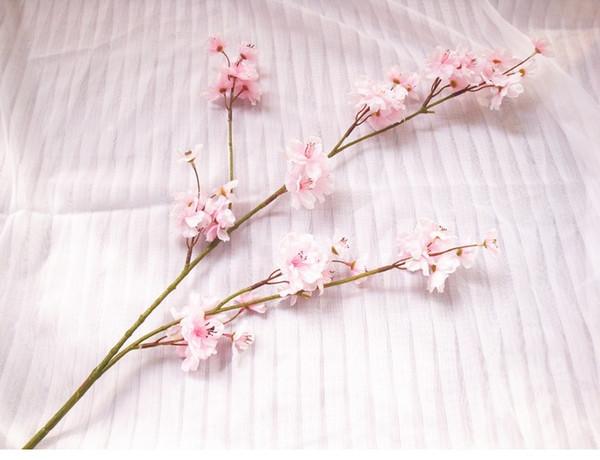 Atacado-5pcs / Lot deslumbrante Cherry Blossom Flower Artificial casamento flores festa evento jardim festa de natal flor falsificada frete grátis