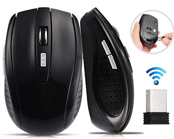 2.4GHz USB Mouse sem fio óptico Mouse Mouse USB Smart Sleep Energy-Saving Mice para computador Tablet PC Laptop Desktop com caixa branca LLF