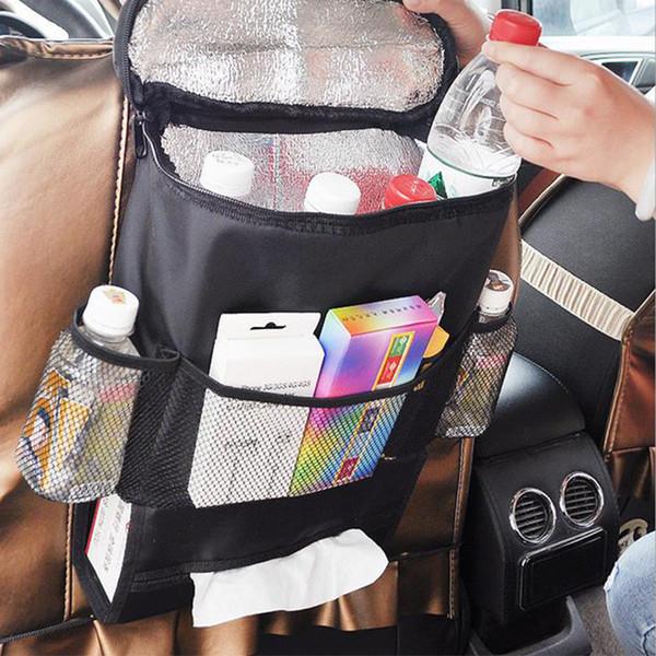 Car Seat back Organizer Food Insulation Storage Bag Sundries Holder Auto Keep Cool Warm Multi-Pocket Hanger Backseat Mesh Pockets Box