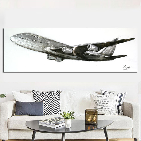 1 Piece Retro HD Print Abstract Retro World War II fighter Airplane Painting Aircraft Poster Canvas Art Wall Picture No Framed