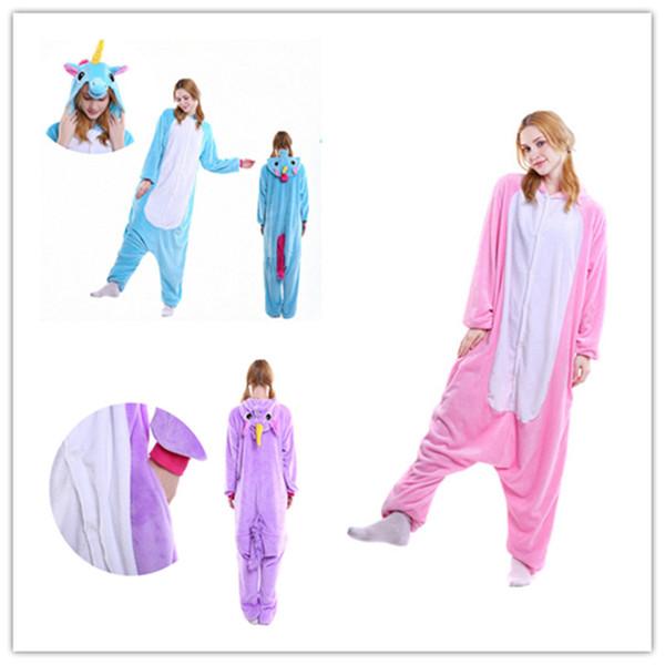 Adults Unicorn Animal Pajamas Cosplay Onesie,One Piece Anime Costume Sleepwear Cousinpjs Adults Onesie Unicorn Cosplay Costume Sleepwear Hal