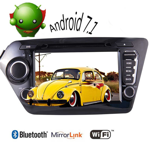 Android 7.1 Stereo Car DVD Player For KIA K2 2011-2012 8'' Quad Core Double Din In Dash FM/AM Radio GPS Navigation