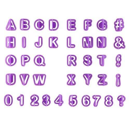 40pcs Alphabet Number Letter Fondant Cake Cookie Cutter Pan Mold Biscuit Cake Tool For Happy Birthday Party