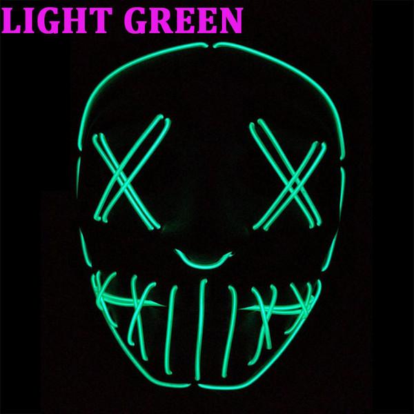 100 sets Neue EL Draht Maske Leuchten Neon Schädel LED Maske Für Halloween Party Und Konzert Scary Party Theme Cosplay Serie Masken