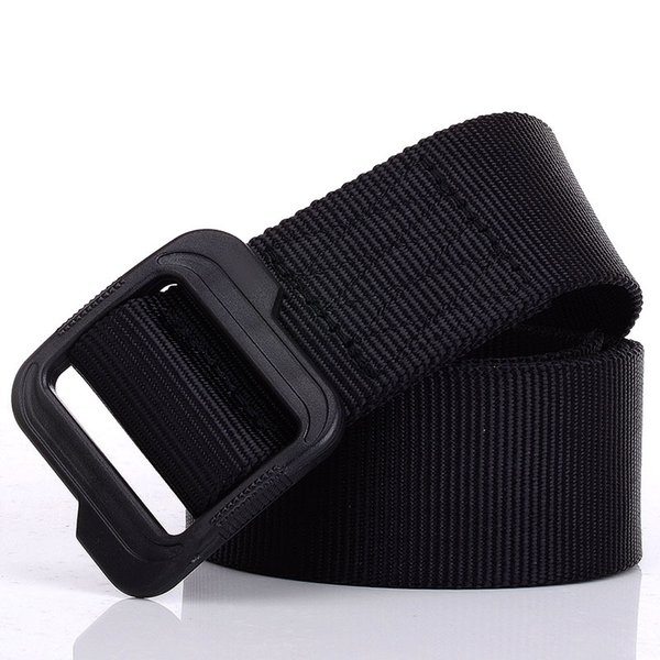 Outdoor Casual Nylon Waist Belt Casual Canvas Belt Plastic Buckle Waist Strap Ceinture Mens High Quality  Tactical