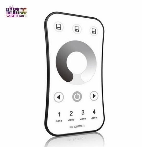 DC5V 24V 36V Wireless 2.4G 4-Zone RF Wireless Touch LED Dimmer Controller for For 5050 3528 Single color Led Strip Light Tape