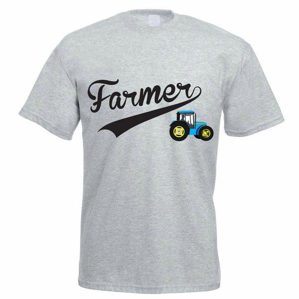 Футболка 2017 мода мужская с коротким графический экипажа шеи горячий Трактор фермы земледелии типа T футболки