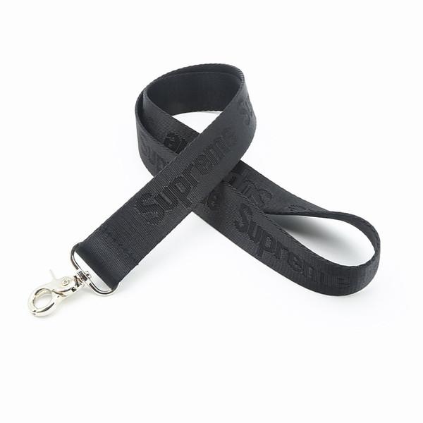 Frete grátis atacado engrossar superme moda vermelho e preto colhedor cordão chaveiro telefone iphone samsung id e-cig chaves alça de pescoço