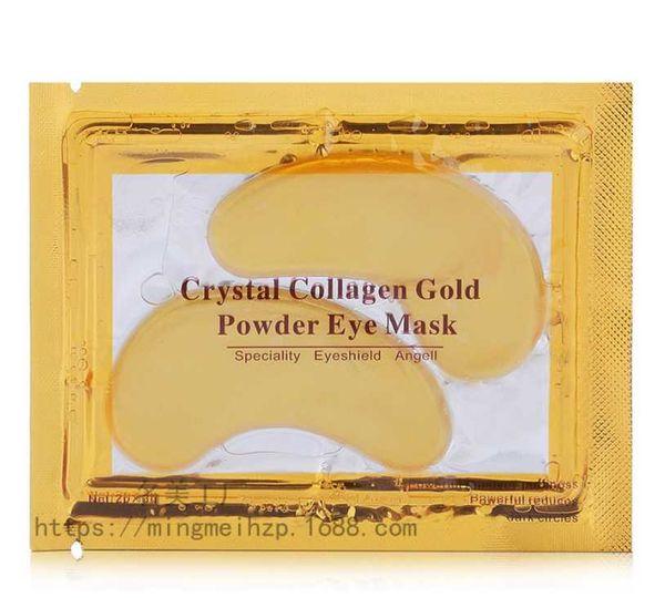 best selling New Crystal Collagen Eye Masks Anti-puffiness moisturizing Eye Masks Anti-aging masks collagen gold powder eye mask