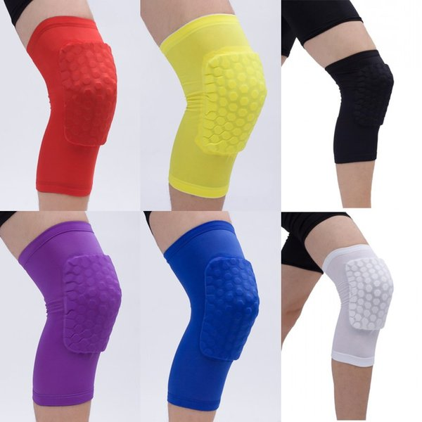 Basketball Knee Pads Honeycomb Leg Knee Sleeve with Protective Perfect and Slip for Knee for Sports Accessory 6 Color Free DHL G314S