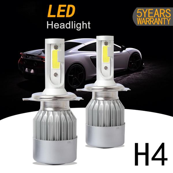 DIC C6 H4 LED Ampoules dans la voiture Phares Lampe COB lampe 72w 7200lm Salut faible faisceau Auto Avant Automobile Phare