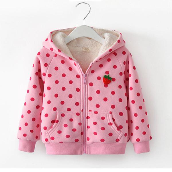 Fille Hoodies Hiver Automne Bonbons Couleur Sweat Chandail Polaire Hoodies Enfant Vêtements Enfants Filles Chaud Cachemire Manteau Vêtements
