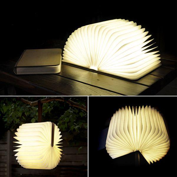 Acheter Strange Led Rechargeable Livre Lumiere Nuit Changement Forme Variable Appareil A Piles Lumineux Belle Lampe De Table De 77 81 Du Lightingo