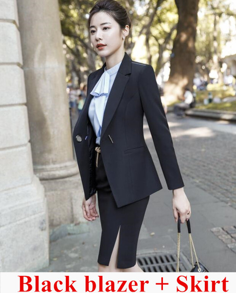 Black coat and skirt
