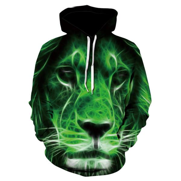 New Animal Printed Hoodies Men 3d Hoodies Brand Sweatshirts Jackets Quality Pullover Fashion Tracksuits Lion Streetwear Coat