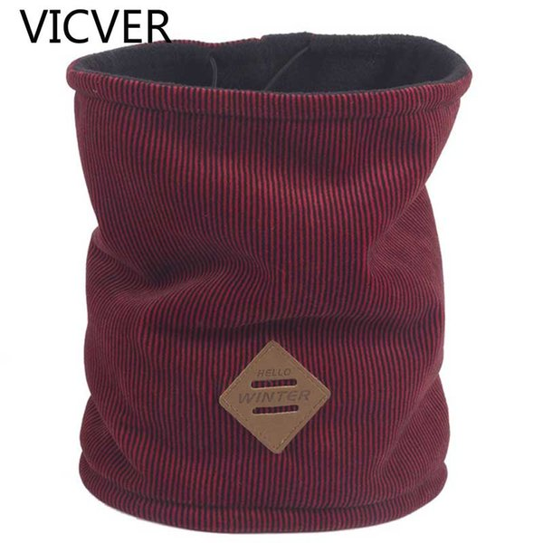 New Thick Scarves Wool Winter Ring Collar Scarf For Men Fleece Collar Casual Neck Warmer Dual-Use Hat Women Skiing Sports Scarfs
