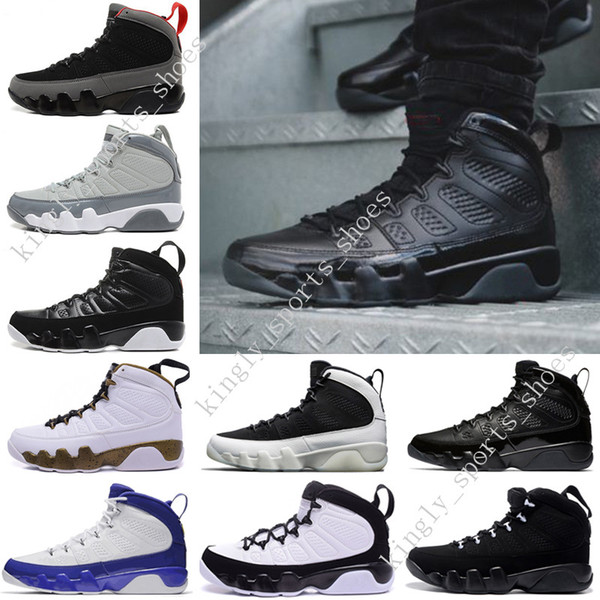Cheap NEW 9 Anthracite black Copper Statue Baron Charcoal Johnny Kilroy blue Mens Basketball Shoes 9s IX Sneaker designer Shoes size US 7-13