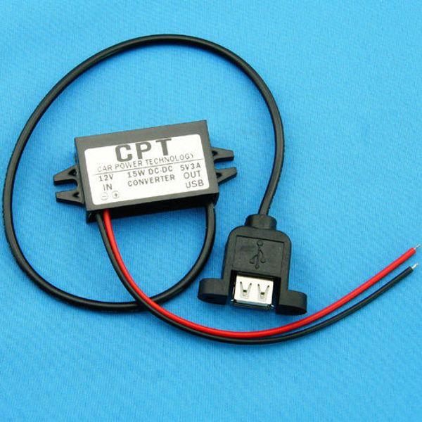 Freeshipping DC Buck Converter 12V to 5V 3A 15W voltage regulator W USB Output POWER Supply