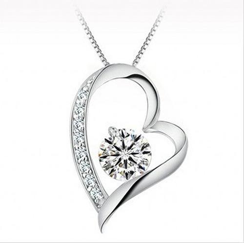 Diamantes de cristal austríaco al por mayor del amor del corazón colgante, collar de la declaración Moda Mujeres Niñas Señora Swarovski Elements Jewelry